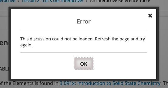 forum load error